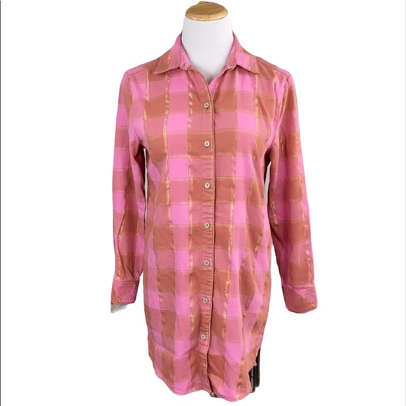 Victoria's Secret Pink Plaid Flannel Sleep Shirt